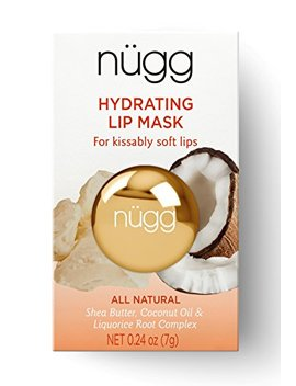 Nügg All Natural Hydrating Lip Mask For Dry Lips; Makes Lips Soft And Smooth; 0.24oz (7g) by Nügg