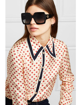 Oversized Square Frame Acetate Sunglasses by Gucci