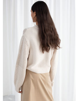Mixed Texture Cotton Sweater by & Other Stories