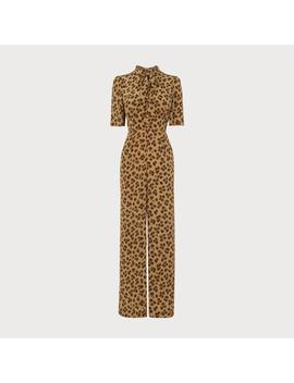 Marmont Silk Leopard Print Jumpsuit by L.K.Bennett