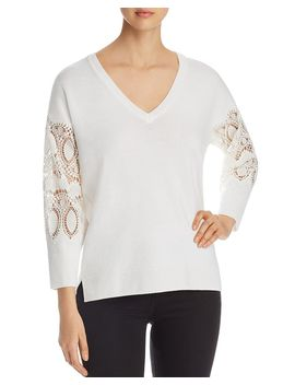 Katharina Lace Sleeve Sweater by Kobi Halperin
