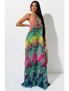 Paradise Found Floral Maxi Dress by Akira