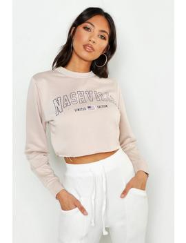 Nashville Crew Neck Sweat by Boohoo