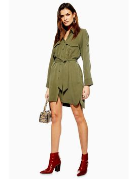 Petite Utility Mini Shirt Dress by Topshop