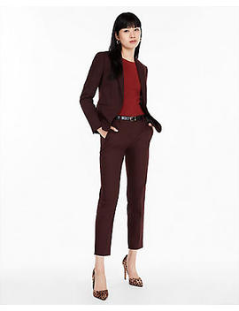 Burgundy Ankle Columnist Pant Suit by Express