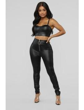 Never Miss A Trend Pant Set   Black by Fashion Nova