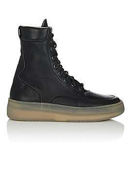 Men's Mm1 Leather Sneakers by Maison Margiela