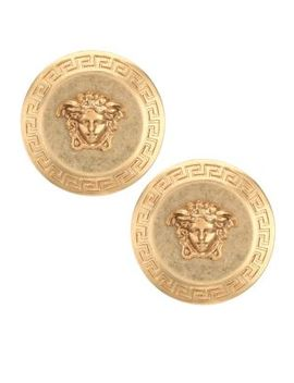 Medusa Button Earrings by Versace