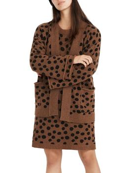 Leopard Dot Cardigan by Madewell