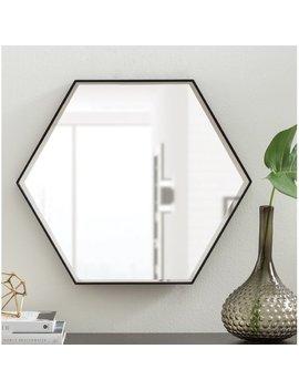 High Littleton Wood Wall Mirror by Mercury Row