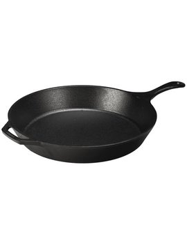 """Lodge Logic 15"""" Seasoned Cast Iron Skillet, L14 Sk3, With Assist Handle by Lodge"""