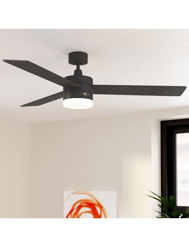"52"" Luray 3 Blade Ceiling Fan With Remote, Light Kit Included by Wade Logan"