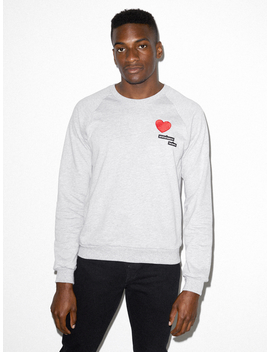 California Fleece Embroidered Raglan by American Apparel
