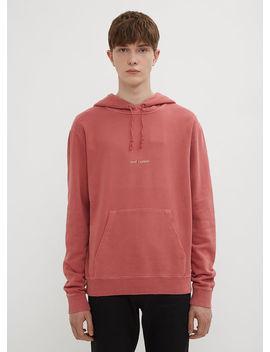 Hooded Logo Sweatshirt In Pink by Saint Laurent