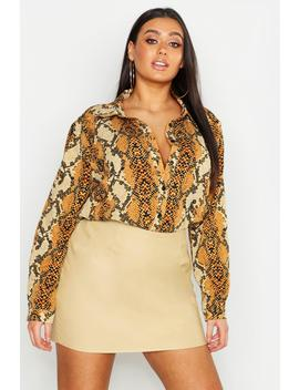 Plus Snake Oversized Shirt by Boohoo