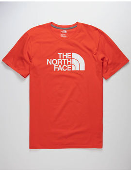 The North Face Half Dome Fiery Red & Tnf White Mens T Shirt by The North Face
