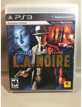 Play Station 3 : L.A. Noire Rockstar Games Ps3 Complete Case Manual by Rockstar Games