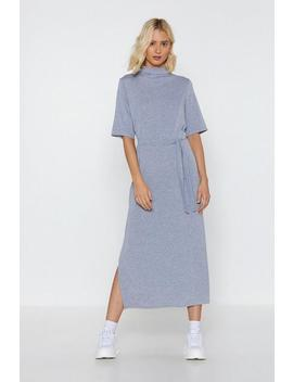 Belt Away Mock Midi Dress by Nasty Gal