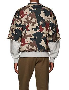 Patch Detailed Camouflage Cotton Sweatshirt by Gosha Rubchinskiy