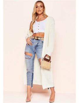 Addie Cream Longline Knit Cardigan by Missy Empire