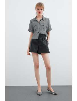 Faux Leather Shorts  Shortswoman by Zara