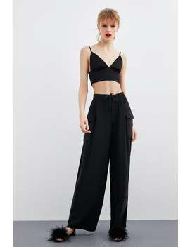 Cropped Top  Shirtstrf by Zara