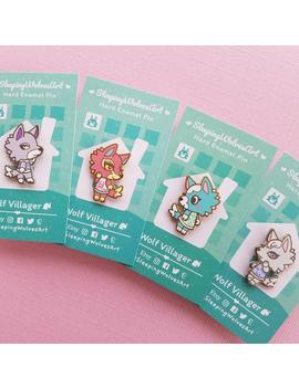 Wolf Villagers Series 1 Hard Enamel Pins | Animal Crossing: Skye, Fang, Whitney, Freya by Etsy