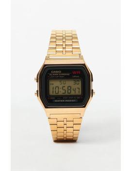 G Shock Classic Digi Vintage Gold & Black Watch by Pacsun