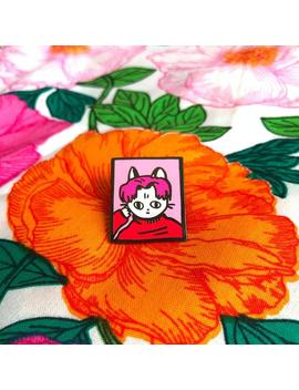 Cool Cat Boy Band Heart Throb In Blossom   1 Inch Enamel Pin by Etsy