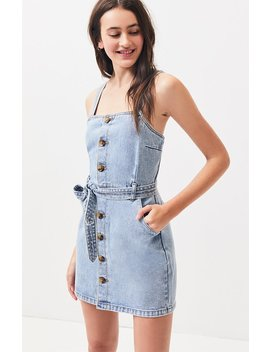 Pac Sun Button Front Belted Dress by Pacsun