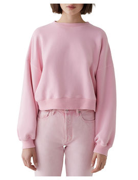 Balloon Sleeve Cropped Pullover by Agolde