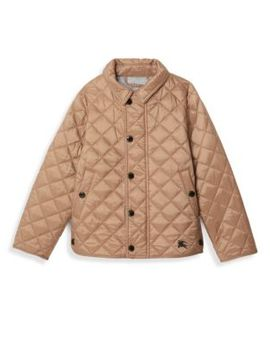 Little Girl's & Girl's Diamond Quilted Jacket by Burberry