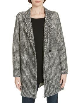 Organic Cotton Blend Tweed Coat (Regular & Petite) by Eileen Fisher