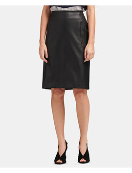 Faux Leather Pencil Skirt, Created For Macy's by Dkny