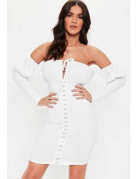 White Bardot Milkmaid Mini Dress by Missguided