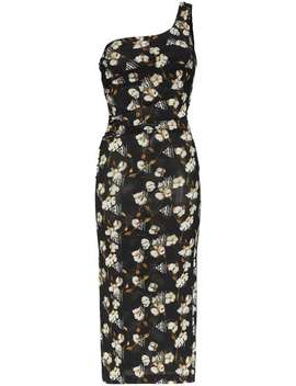 Floral Print Bodycon Midi Dress by Off White