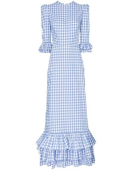 Cinderella Gingham Cotton Ruffle Dress by The Vampire's Wife