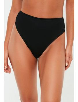 Black Mix And Match High Leg Bikini Brief by Missguided