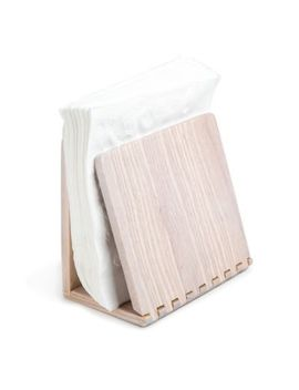 Medici Wood Napkin Holder In White Wash by Bed Bath And Beyond