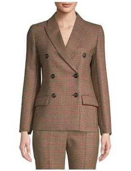 Monile Checkered Wool Jacket by Weekend Max Mara
