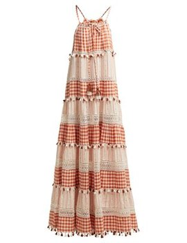 Patricia Tiered Gingham Maxi Dress by Dodo Bar Or
