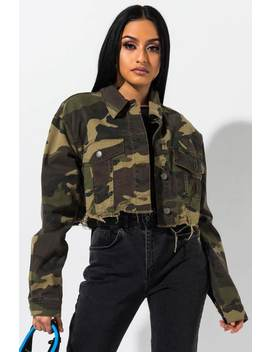 Attention Attention Camo Cropped Jacket by Akira