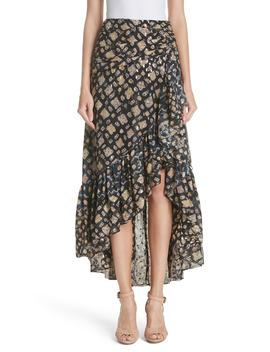 Ailie Silk Blend High/Low Skirt by Ulla Johnson