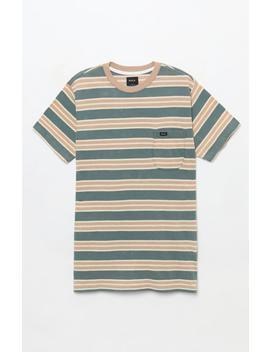Rvca Lucas Stripe Pocket T Shirt by Pacsun