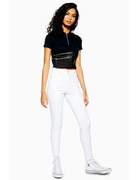 White Rip Hem Jamie Jeans by Topshop