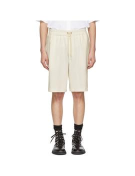 Off White Knit Shorts by Jil Sander