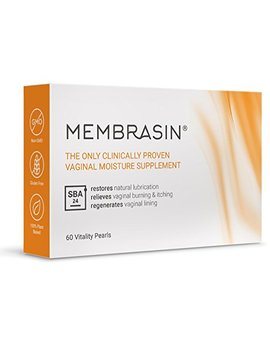 Membrasin® For Vaginal Dryness   100 Percents Natural Moisture Supplement   Clinically Proven To Restore Natural Lubrication And Relieve Dry Vagina Burning And Itching   Safe Lubricant For Women And Menopause by Membrasin