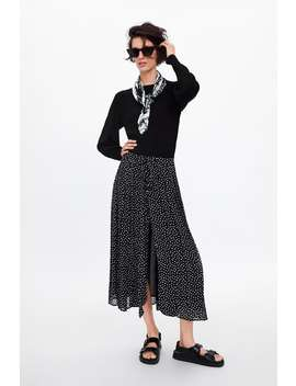 Polka Dot Pleated Skirt  Skirts by Zara