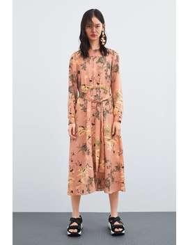 Printed Dress  Midi Dresses Woman by Zara