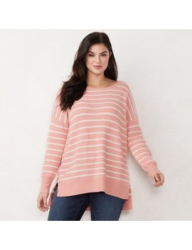 Plus Size Lc Lauren Conrad Oversized Sweater by Kohl's